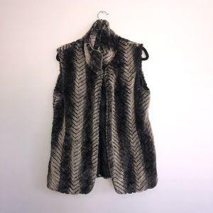 Via Spiga faux fur vest Size Sz XS X-Small